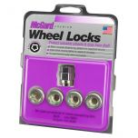 Cone Seat- Under Hub Cap Wheel Lock Set (7/16-20 Thread Size) - Set of 4 Locks and 1 Key