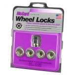 Cone Seat- Under Hub Cap Wheel Lock Set (M12 x 1.5 Thread Size) - Set of 4 Locks and 1 Key