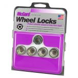Cone Seat- Under Hub Cap Wheel Lock Set (9/16-18 Thread Size) - Set of 4 Locks and 1 Key