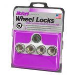 Cone Seat- Under Hub Cap Wheel Lock Set (9/16-18 Thread Size) - Set of 4 Locks and 1 Key
