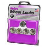 Cone Seat- Under Hub Cap Wheel Lock Set (M12 x 1.75 Thread Size) - Set of 4 Locks and 1 Key