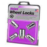 Chrome Cone Seat Wheel Lock Set (1/2-20 RH-LH Thread Size) - Set of 4 Locks and 1 Key