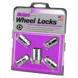 Chrome Cone Seat Wheel Lock Set (7/16-20 Thread Size) - Set of 4 Locks and 1 Key
