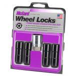 Black Cone Seat Wheel Lock Set (9/16-18 Thread Size) - Set of 4 Locks and 1 Key