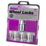 Chrome Cone Seat Wheel Lock Set (M12 x 1.25 Thread Size) - Set of 4 Locks and 1 Key