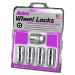 Chrome Cone Seat Wheel Locks (M14 x 2.0 Thread Size) - Set of 4 Locks and 1 Key
