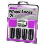 Black Cone Seat Wheel Locks (M14 x 2.0 Thread Size) - Set of 4 Locks and 1 Key