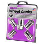 Chrome Cone Seat Wheel Lock Set (M14 x 1.5 Thread Size) - Set of 4 Locks and 1 Key