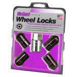 Black Cone Seat Wheel Lock Set (M14 x 1.5 Thread Size) - Set of 4 Locks and 1 Key