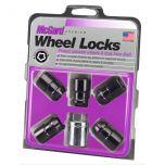 Black Wheel Lock Set  (M12 x 1.5 Thread Size) - Set of 5 Locks and 1 Key