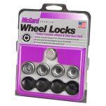 Radius Seat Wheel Lock Set (M14 x 1.5 Thread Size) - Set of 4 Locks and 1 Key