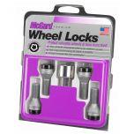 Black Bolt Style Cone Seat Wheel Lock Set (M12 x 1.5) - Set of 4 Locks and 1 Key