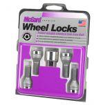 Chrome Bolt Style Cone Seat Wheel Lock Set (M12 x 1.75 Thread Size) - Set of 4 Locks and 1 Key