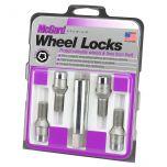 Chrome Tuner Bolt Style Cone Seat Wheel Lock Set (M14 x 1.5 Thread Size) - Set of 4 Locks and 1 Key