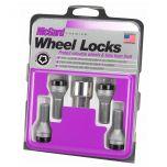 Black Bolt Style Cone Seat Wheel Lock Set (M12 x 1.25) - Set of 4 Locks and 1 Key