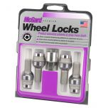 Chrome Bolt Style Radius Seat Lock Bolt Set (M14 x 1.5 Thread Size) - Set of 4 Locks and 1 Key