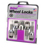 Black Bolt Style Radius Seat Lock Set (M14 x 1.5 Thread Size) - Set of 4 Locks and 1 Key